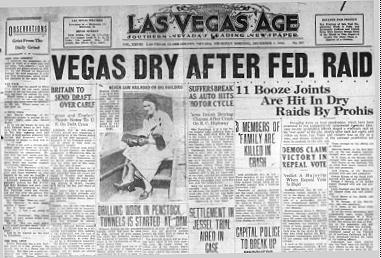 Las Vegas Age Prohibition Headline